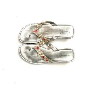 SALE‼️ Athena Alexander | Jeweled Thong Sandal